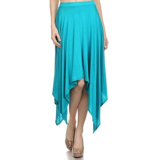MOA Collection Women's Solid Color Asymmetrical Skirt