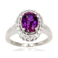 Sterling Silver 2 7/8ct Purple Created Sapphire Ring