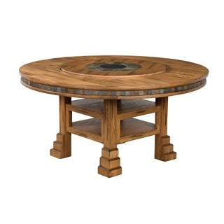 Sunny Designs Sedona 60-inch Round Table with Lazy Susan