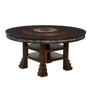 Sunny Designs Santa Fe 60 Inch Round Table with Lazy Susan