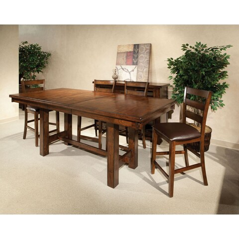 Kona Raisin 40x72-90 Gathering Trestle Table - Brown