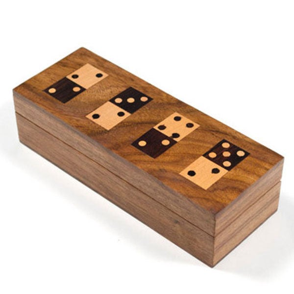 Hand-Carved Wooden Domino Set (India)