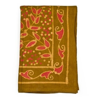 Handmade Jasmine Vine Tablecloth (India)