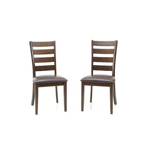 Kona Raisin Ladderback Dining Chairs-set of 2