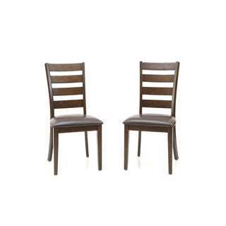 Kona Raisin Ladderback Dining Chairs-set of 2