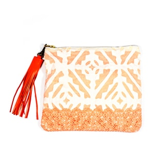 Citrus Applique Pouch (India)