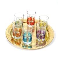 Handmade Set of 6 Moorish Style Tea Glasses (Tunisia)