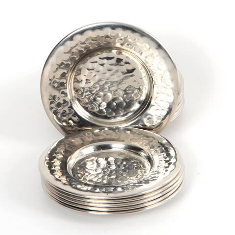Handmade Set of 6 Copper Coasters (Tunisia)