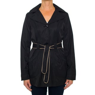 Laundry By Design Princess Line Belted Trench Coat