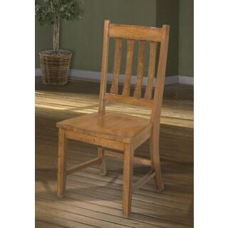 Mission Leopold Burnish Oak Slat Back Dinette Chair-set of 2