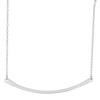 La Preciosa Sterling Silver Curved Bar Necklace