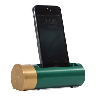 Sportsman's Desk Shotgun Shell Smartphone Cradle (Green and Brass  Finish)