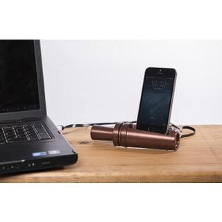 Sportsman's Desk Walnut Finish Duck Call Smartphone Dock Station