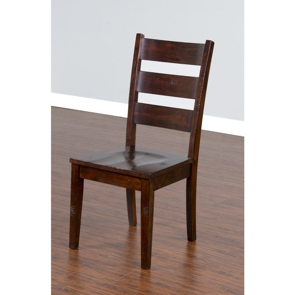 Sunny Designs Vineyard Ladderback Chair With Wood Seat