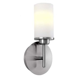 Prato 23W Wall Light with Matte Nickel Finsih and White Frosted Glass