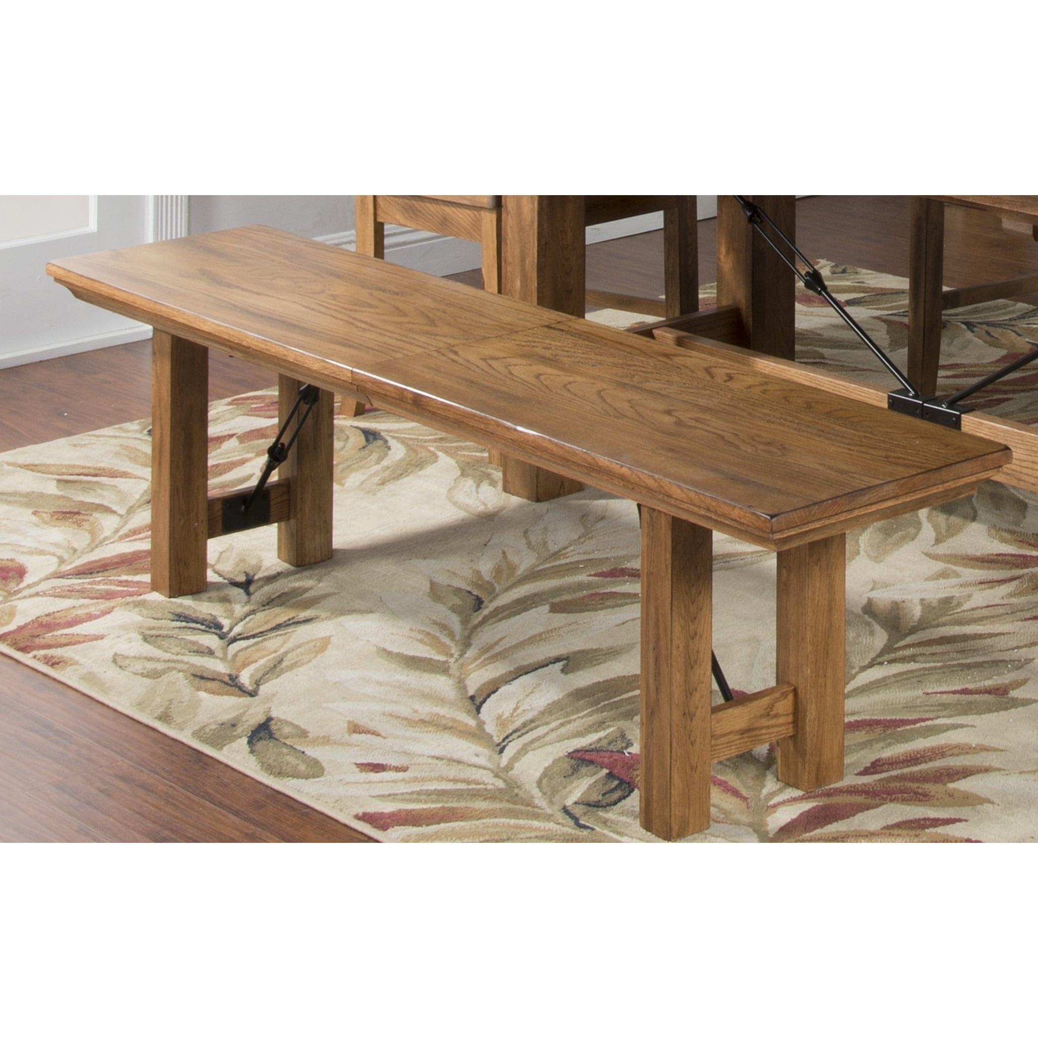Sunny Designs Sedona Expandable Dining Bench with Wood Se...