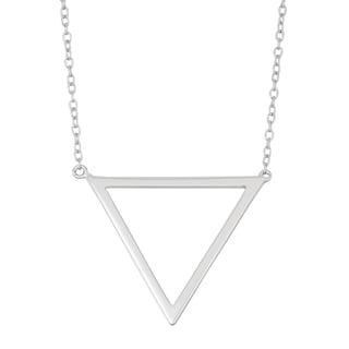 La Preciosa Sterling Silver Open Triangle Necklace