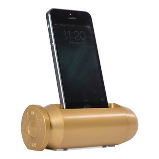 Sportsman's Desk Bullet Smartphone Cradle (Brass Finish)