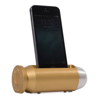 Sportsman's Desk Bullet Smartphone Cradle (Brass and Platinum Finish)