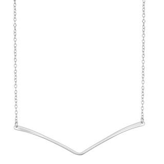 La Preciosa Sterling Silver Bent Bar Necklace