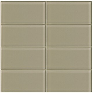 Driftwood Beige 3 x 6-inch Glass Tile