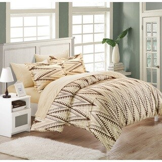 Chic Home Selenio Brown 3-Piece Duvet Cover Set