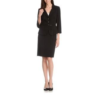 Tahari Arthur S. Levine Women's Mandarin Collar 2-Piece Skirt Suit