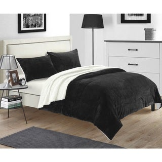 Chic Home Evie Plush Microsuede Sherpa 7-piece Bed in a Bag with Sheet Set