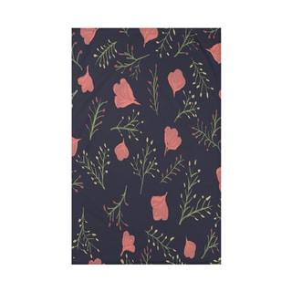 Spring Blooms Floral Print 50 x 60-inch Throw Blanket