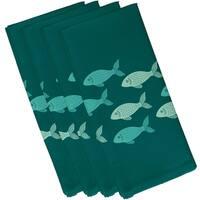 Fish Line Animal Print 19-inch Napkin