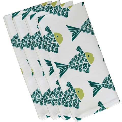 Fish Tales Animal Print 19-inch Napkin