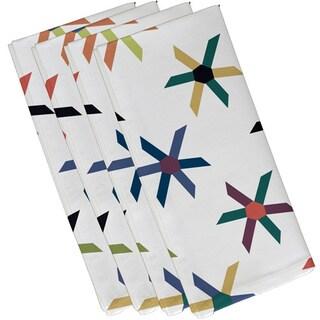 Pinwheel Pop Geometric Print 19-inch Napkin