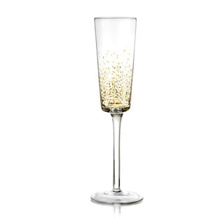 Gold Luster 5.41-ounce Flute Glasses (Set of 4)