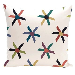 Shop Pinwheel Pop Geometric Print 18 Inch Outdoor Pillow Free