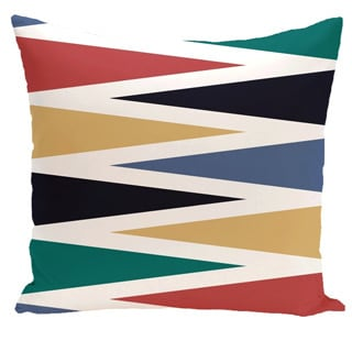 Backgammon Geometric Print 18-inch Outdoor Pillow