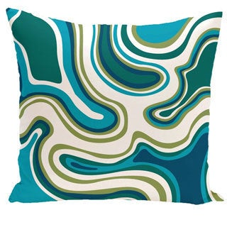 Shop Agate Geometric Print 18 Inch Outdoor Pillow Free Shipping