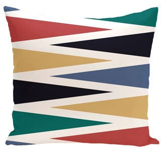 Backgammon Geometric Print 20-inch Outdoor Pillow
