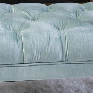 Scarlette Tufted Velvet Ottoman Bench by Christopher Knight Home