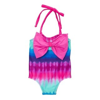 Dippin Daisy's Tiedye Infant and Todddler's One Piece w/ Bow