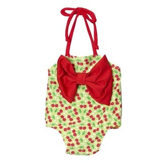 Dippin Daisy's Child's Green Cherry One-Piece Swimsuit