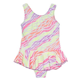 Dippin Daisy's Multi-colored Zebra Girl's One Piece Swimdress