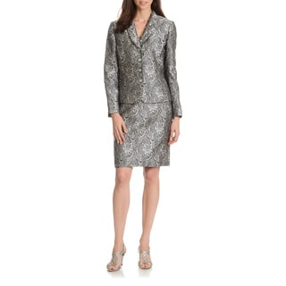 Tahari Arthur S. Levine Women's Patterned 2-Piece Skirt Suit