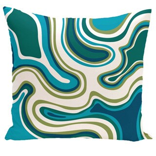 Agate Geometric Print 20-inch Outdoor Pillow