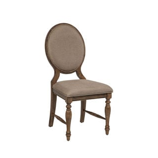 Rhone Brushed Almond Cameo Back Side Chair-set of 2