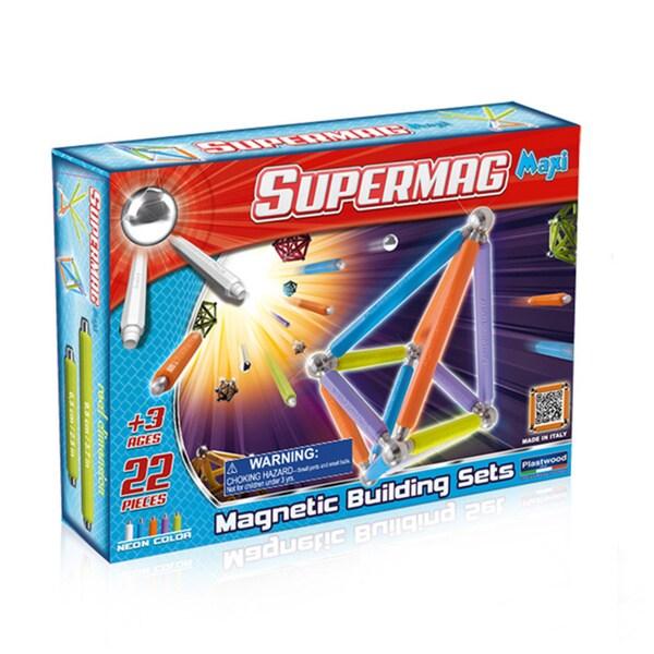 Supermag Maxi Neon 22 Magnetic Building Set