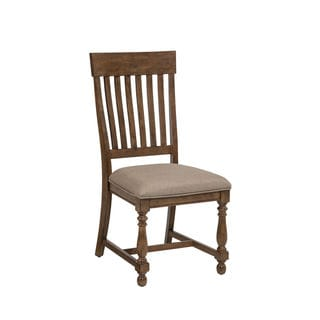 Rhone Brushed Almond Slat Back Dining Chair-set of 2