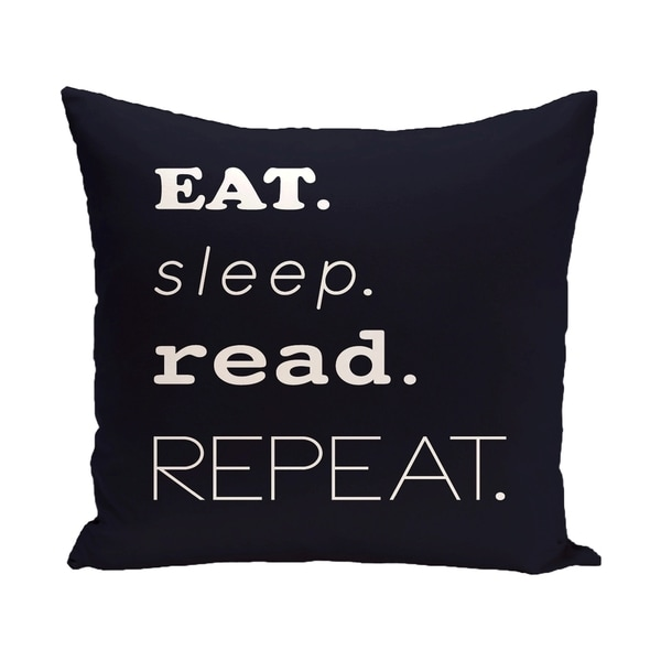 Shop My Mantra Word Print 18 Inch Outdoor Pillow Free Shipping On