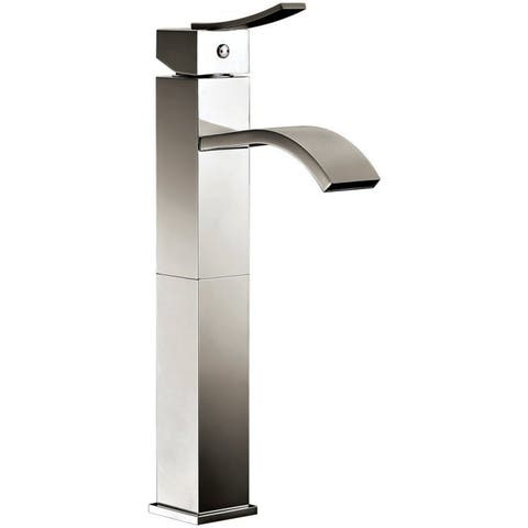 Dawn Brushed Nickel Single-lever Square Tall Lavatory Faucet