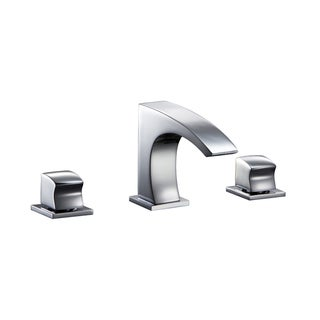 Dawn 3-Hole, 2-Square Handle Widespread Lavatory Chrome Faucet