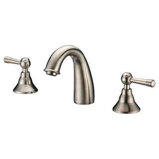 Dawn 3-Hole, 2-Handle Curved Spout Widespread Brushed Nickel Lavatory Faucet